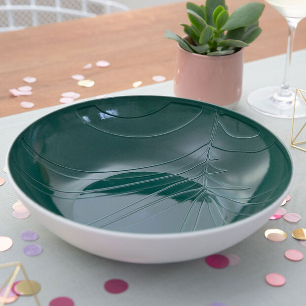 it's my match Green serving bowl Leaf, , large