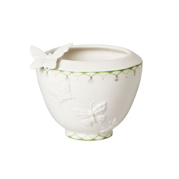 Colourful Spring small vase, white/green