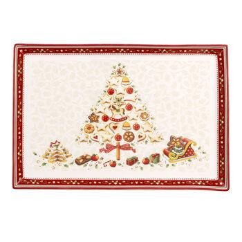 Winter Bakery Delight Rectangular cake platter large 39x26,5cm