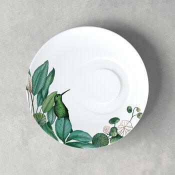 Avarua coffee cup saucer, 18.5 cm, white/multicoloured