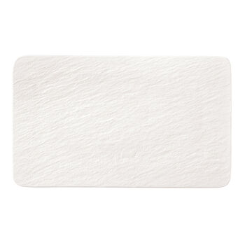 Manufacture Rock Blanc rectangular multifunctional plate, white, 28 x 17 x 1 cm
