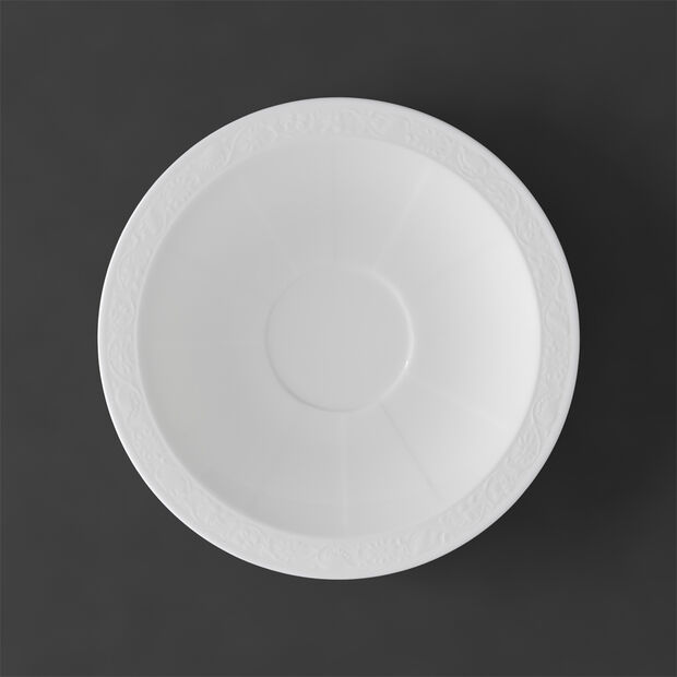 White Pearl Saucer breakfast/soup cup 18cm, , large