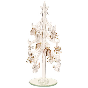 Winter Collage Accessoires Glass Tree with Ornaments 8cm