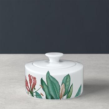 Avarua sugar bowl & jam pot, 330 ml, white/multicoloured