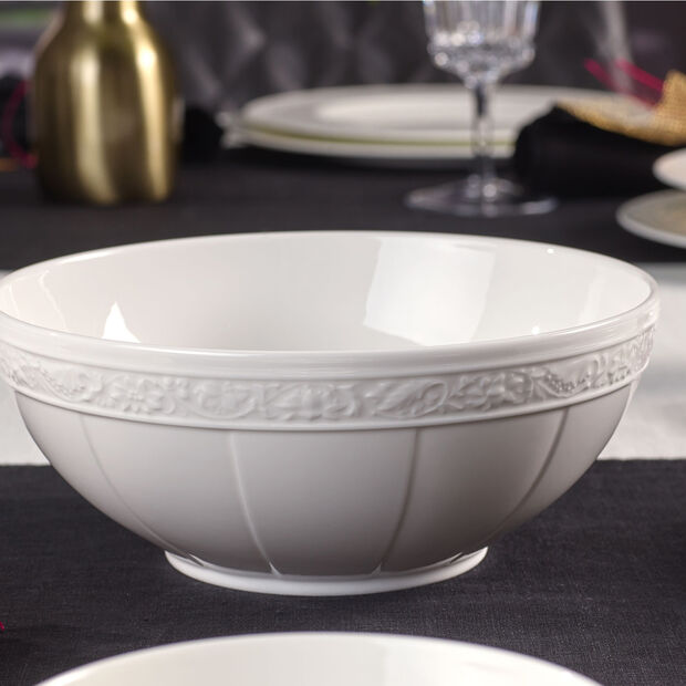 White Pearl small round bowl, , large