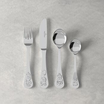 Teddy children's cutlery 4 pieces 21.5 x 15 x 2.5 cm