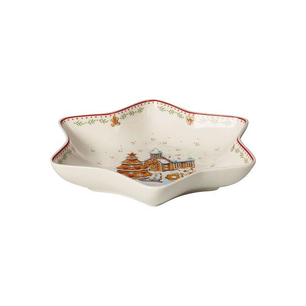 Winter Bakery Delight Star bowl medium, gingerbread village 24,5cm, , large