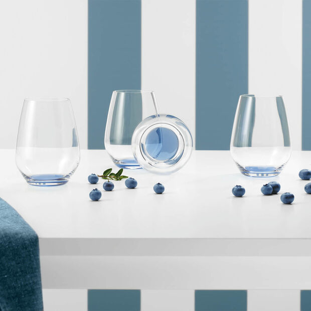 Colourful Life Winter Sky cocktail/water glass set 4 pieces, , large