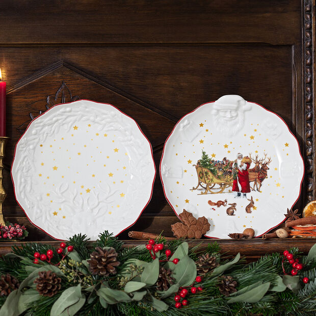 Toy's Fantasy bowl with deer relief, multicoloured/red/white, 24 x 4 cm, , large