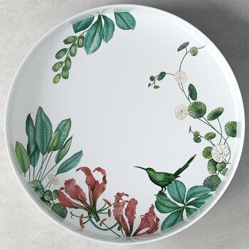 Avarua Gifts serving/decorative bowl, 33 cm, white/multicoloured