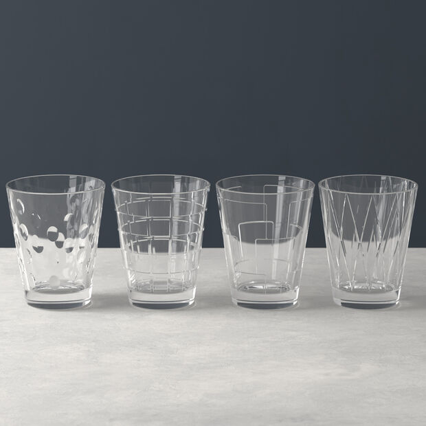 Dressed Up water glass 4-piece set Clear, , large