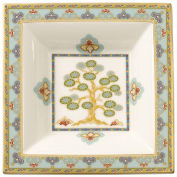 Samarkand Aquamarin square bowl 14 x 14 cm