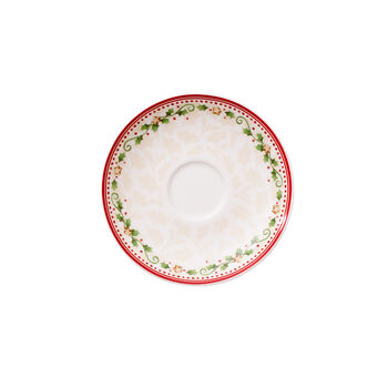 Winter Bakery Delight falling star coffee cup saucer