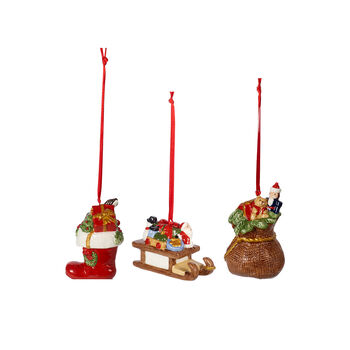 Nostalgic Ornaments ornament set presents, multicoloured, 3 pieces, 6.3 cm