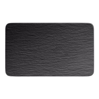 Manufacture Rock rectangular multifunctional plate, black/grey, 28 x 17 x 1 cm