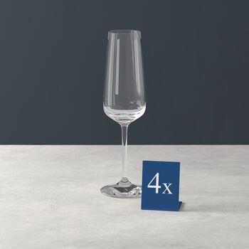 Ovid champagne glass 4-piece set
