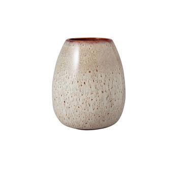 Lave Home egg-shaped vase, 14.5 x 14.5 x 17.5 cm, Beige