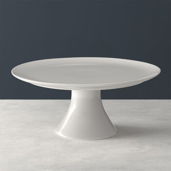 For Me footed cake plate, white, 30 x 30 x 13 cm