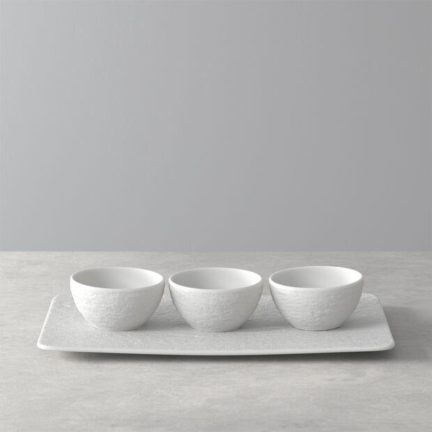 Manufacture Rock Blanc dip bowl set, white, 4 pieces, , large