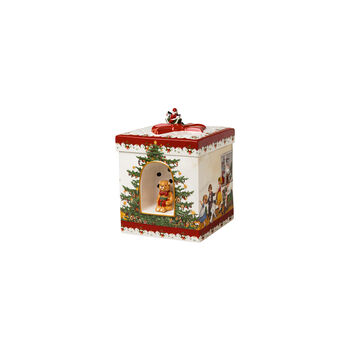 Christmas Toys Gift box large round, 2021 17x17x21,5cm