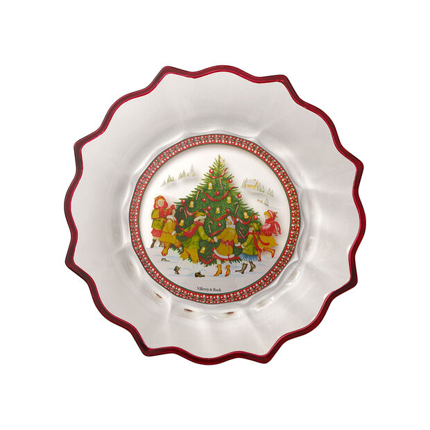 Christmas Glass Accessories bowl dancing around the tree, clear/multicoloured, 25 cm, 850 ml, , large