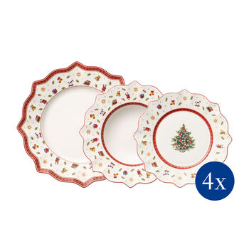 Toy's Delight plate set 12 pieces