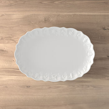 Toy's Delight Royal Classic oval plate, white, 42 x 29 x 4 cm