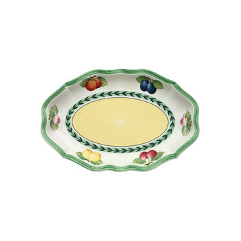 French Garden Fleurence Pickle Dish/Saucer sauceboat 24cm