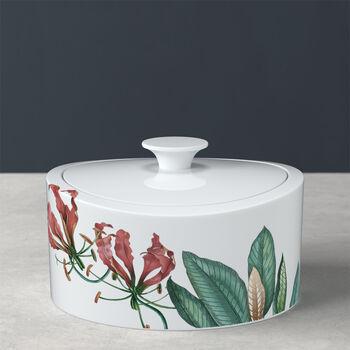 Avarua Gifts porcelain jar, 800 ml, white/multicoloured