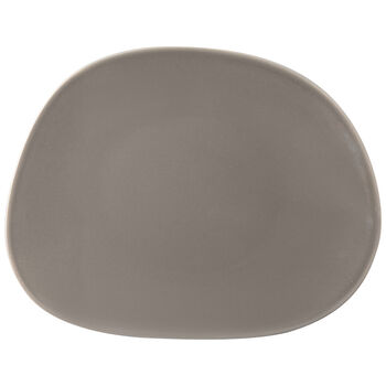 Organic Taupe breakfast plate 21x17x2cm