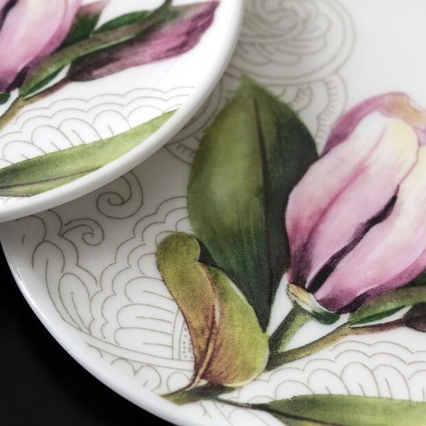 Quinsai Garden coaster, 11 cm diameter, white/multi-coloured, , large