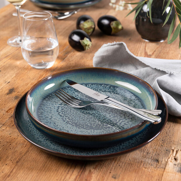 Crafted Breeze soup plate, grey-blue, 21.5 cm, , large