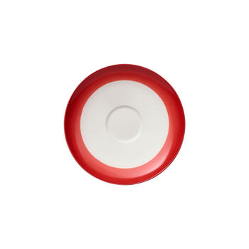 Colourful Life Deep Red coffee cup saucer