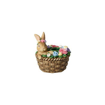Bunny Tales candle holder, Bunny in basket
