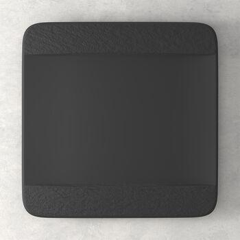 Manufacture Rock square dinner plate, black/grey, 28 x 28 x 2 cm