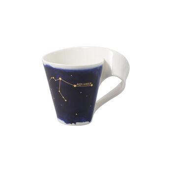 NewWave Stars mug Aquarius, 300 ml, blue/white