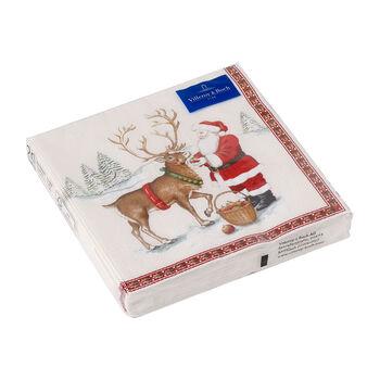 Winter Specials lunch napkin reindeer, brown/multicoloured, 20 pieces, 33 x 33 cm