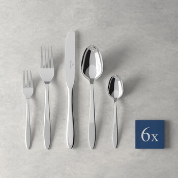 V&B Annalena table cutlery, 30 pieces, for 6 people