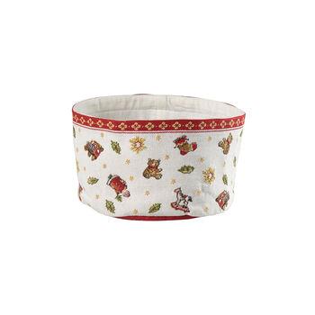 Toy's Delight Gobelin bread basket, red/multicoloured, 15 x 23 cm