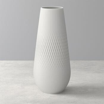Manufacture Collier blanc Vase Carré tall 11,5x11,5x26cm
