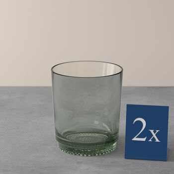 like.by Villeroy & Boch it's my match water glass set mineral, green, 9 x 10 cm, 2 pieces