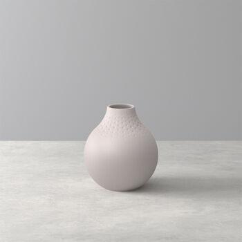 Manufacture Collier vase, 11 x 12 cm, Perle, Beige