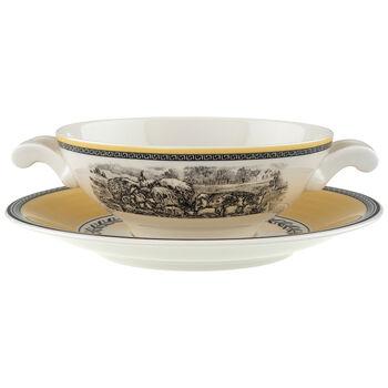 Audun Ferme Soup cup & saucer 2pcs