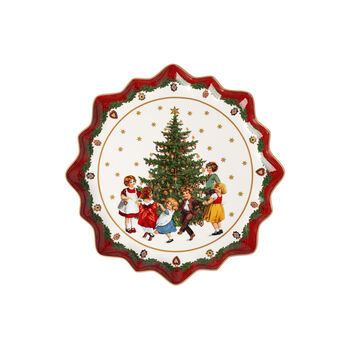 Toy's Fantasy Pastry plate deep, Kids dancing 39x39x3,5cm