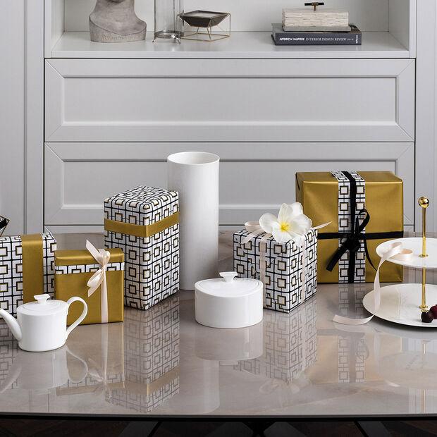 MetroChic blanc Gifts Vase tall 13x13x30,5cm, , large