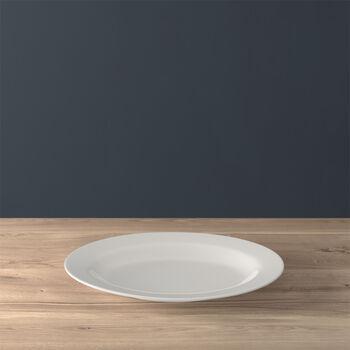 Twist White Oval platter (3) 34cm