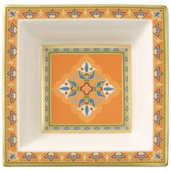 Samarkand Mandarin square bowl 10 x 10 cm