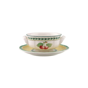 French Garden Fleurence soup cup 2-piece set