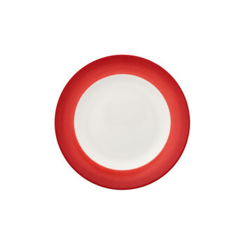 Colourful Life Deep Red breakfast plate