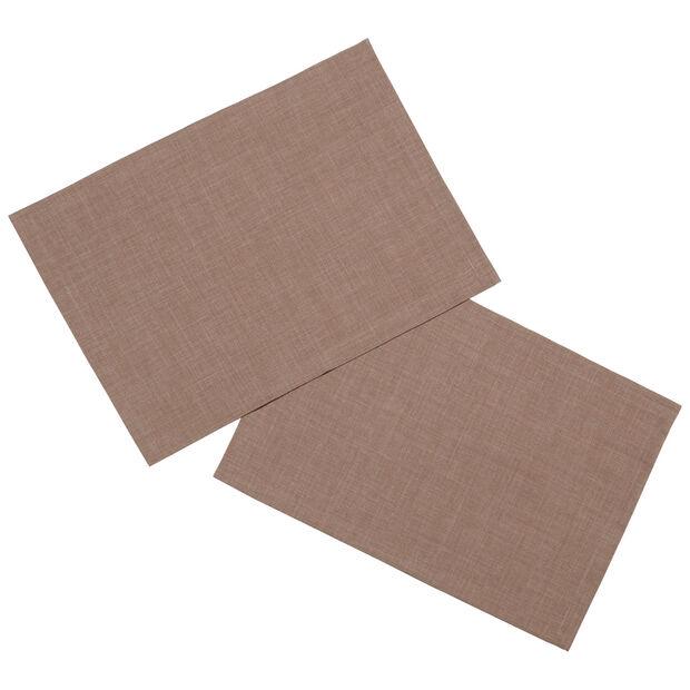 Textil Uni TREND Placemat taupe S2 35x50cm, , large